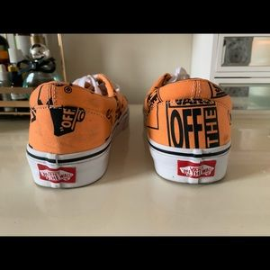 Orange and black Vans